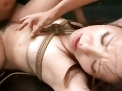 roped asian screwed and creampied
