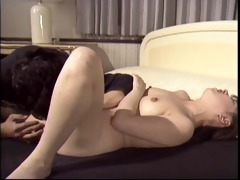 lusty japanese cutie with round wazoo receives