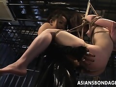 japanese female-dominator bonks her slavegirl