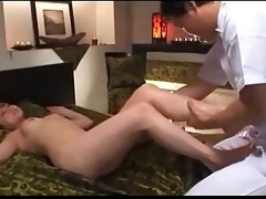 oriental hotty massaged with oil vagina fingered