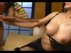 slim lengthy haired oriental fucking in darksome