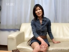 brunette hair japanese hoe has enjoyment chatting