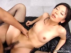 sexy satomi maeono drilled on a daybed