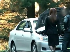 lewd hotty acquires her car broken and this part10
