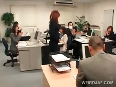 japanese chick receives roped to her office chair