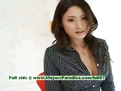 risa sinless oriental beauty gives a cute oral