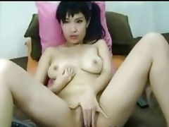 live cams depict an oriental woman undressing