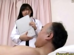 japanese honey nurse receives filthy