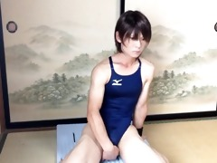 korean sissy crossdresser sextoy ride and jizz