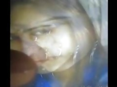 gman cum on face of an desi hot chick in sari