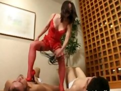 fierce dominatrix-bitch humiliates, dominates and