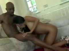 taut oriental babe nailed by large darksome weenie