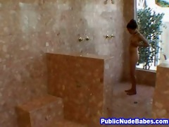 oriental blowjobs old chap in public shower