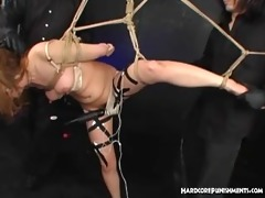 japanese sex serf in suspension dominated by