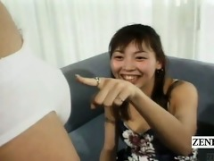 subtitled cfnm japan amateurs see tugjob and