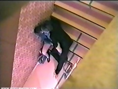public sex pair at stairs