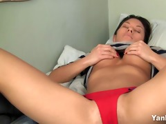 small oriental with giant tits orgasms hard
