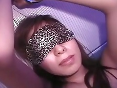 cute oriental honey blindfolded and...