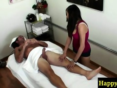 oriental masseuse jumping on her customers wang