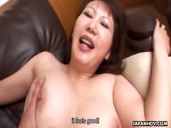 hawt japanese milf with large melons rides a hard