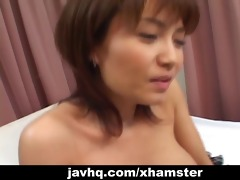 horny asian beauty likes to be threesomed by the