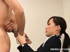 nasty asian police woman pussy licked by slutty