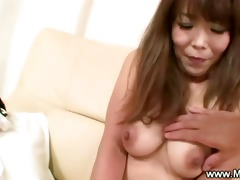 aged japanese maiko teasing with her unshaved cunt
