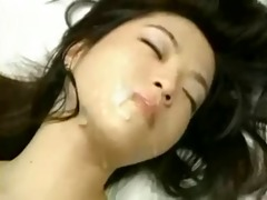 korean hottie groans in satisfaction