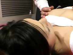 ryo sasaki gives a double oral-job after having