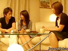 japanese aged babes have a trio part0