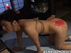 breasty japanese babe in sexy wax sadomasochism