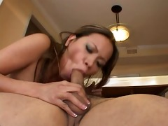 asian cougar mika receives drilled in her a-hole
