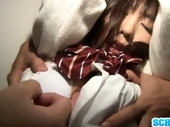 tied chika arimura fingered to a meaty big o