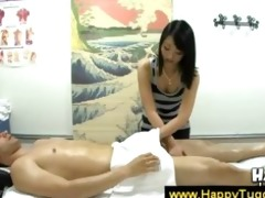 oriental masseuse suggests a rub and engulf