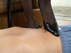 mistress teases and dominates her serf using her