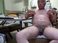 japanese old fellow knob twitch to the touch nipps