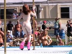 strippers raw and undressed in public at