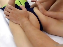 japanese gymnast getting her gazoo lubed part11