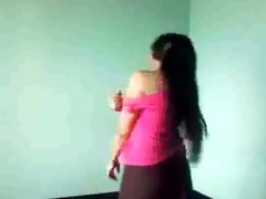 cute indian beauty expose her body infront of