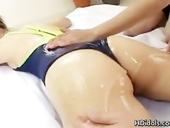 japanese gymnast getting her butt lubed part9