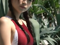 softcore oriental legal age teenager in swimsuit