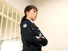 wicked oriental police woman muff licked by