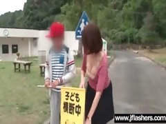 japanese gal bonks hard after flash body in
