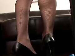 hawt secretary in nylons getting her wet crack
