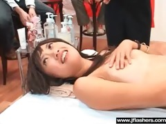 japanese angel copulates hard after flash body in