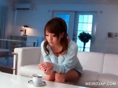 oriental girl acquires wrapped and screwed by