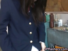 awesome oriental schoolgirl shows off her part7