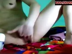 oriental legal age teenager in nature web camera