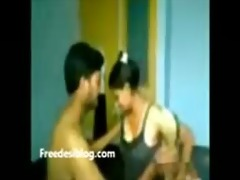 youthful indian pair make love