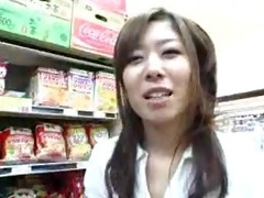 oriental cook jerking blowjob in the grocery store